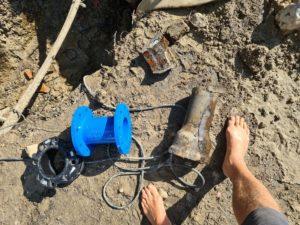 Oprava vodovodného potrubia Rusovce