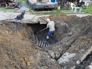 oprava vodovodného potrubia Karlova ves